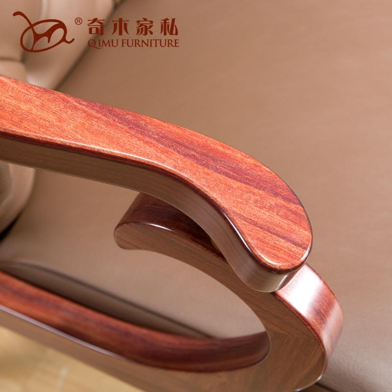 奇木新中式实木圈椅组合太师椅三件套欧式休闲客厅茶椅围椅靠背椅