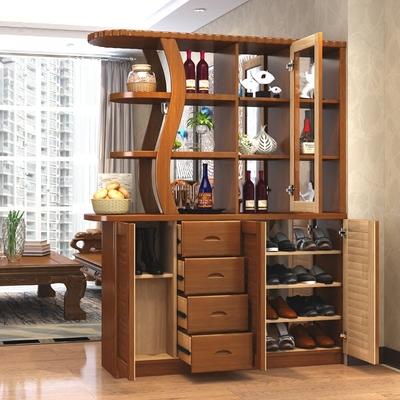 现代中式实木玄关柜
