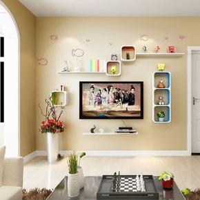 墙上置物架壁挂墙面创意格子客厅卧室电视背景墙柜装饰架现代简约