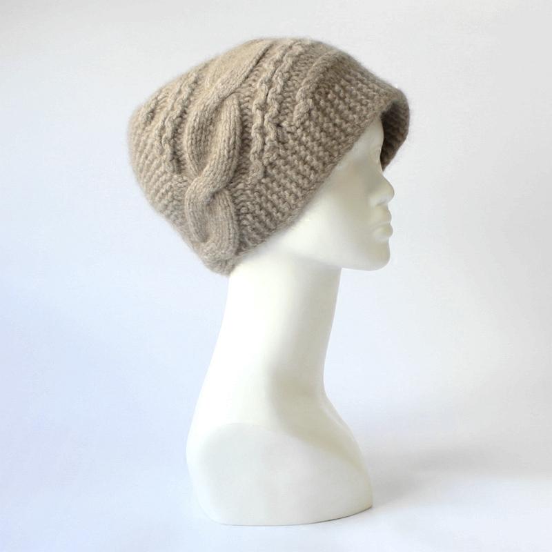 棒针编织帽