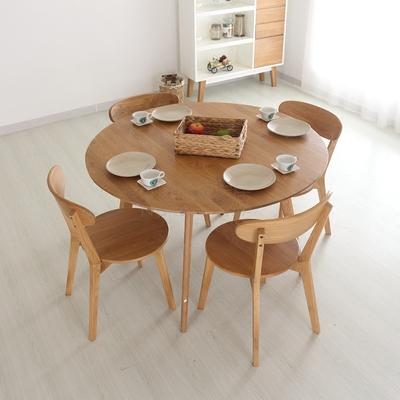 实木圆形餐桌椅小户型官方旗舰店