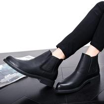男士发型师男春季韩版休闲内增高青年英伦潮流新款男鞋皮鞋发型