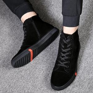 男鞋冬季高帮鞋男韩版潮流休闲高邦板鞋中帮男士保暖加绒棉鞋冬鞋