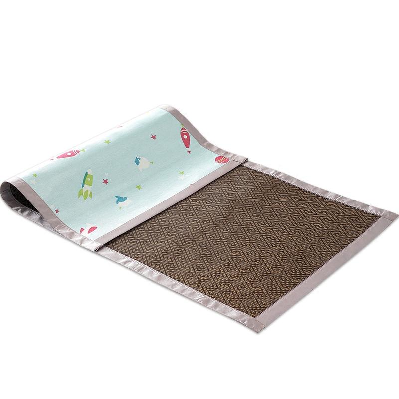 婴儿凉席冰丝夏季儿童双面凉席婴儿床宝宝凉席幼儿园凉席午睡藤席