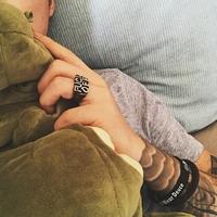 美式经典复古阿美咔叽摇滚嘻哈说唱机车刻字母个性夸张男女戒指环