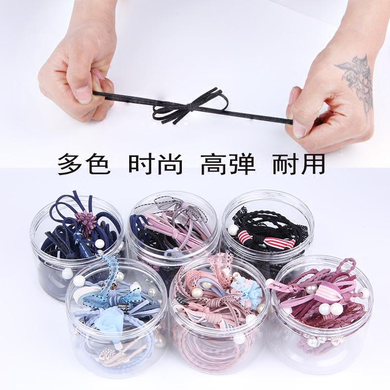 韩国清新头绳发圈橡皮筋发绳森女系简约扎头发高马尾百搭头饰成人