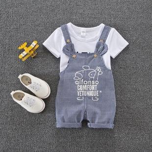 男童女童宝宝夏装套装0-1-2-3岁4婴儿童装夏季6-8-9-10-12个月潮5