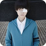 Tokyo Ghouls Jin Muyan COS props white eye mask Anime peripheral products