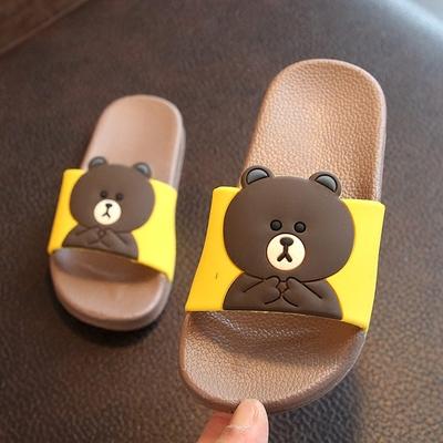 夏季新款儿童男童女童小熊凉拖鞋可爱卡通中大童小孩宝宝家居防滑