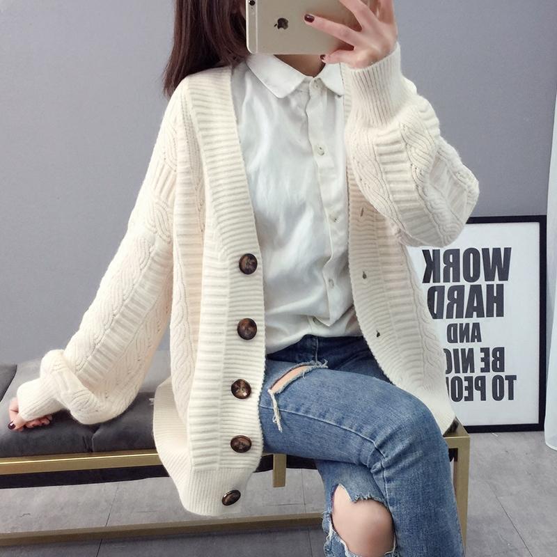 加厚毛衣外套女冬季开衫加厚