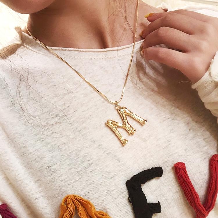 毛衣链金色时尚