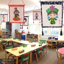 幼儿园中国风吊饰少数民族创意走廊教室挂饰农家饭店装 饰脸谱挂件