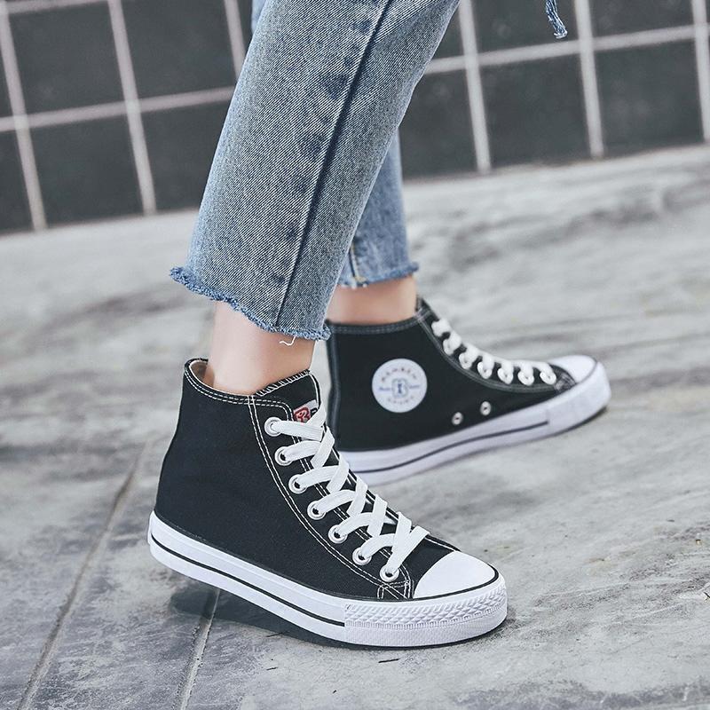 高邦帆布女鞋
