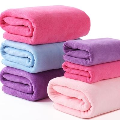 包邮大浴巾 超细纤维纯色加厚加大吸水干发浴巾 擦身体抹胸速干