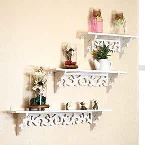 创意墙上置物架现代简约欧式客厅挂墙搁架壁挂一字花架免打孔