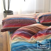 床上用品2.0m支贡缎长绒棉四件套全棉纯棉简约女床单被套60南极人