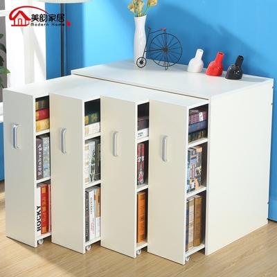 简约现代儿童书柜置物书架特价移动书橱储物收纳隐藏带门简易柜子新款推荐