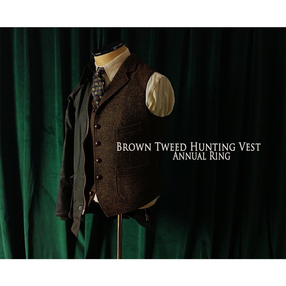 棕色西装马夹