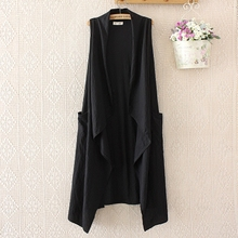 Spring sleeveless outerwear waistcoat leisure waistcoat ladies in spring and Autumn