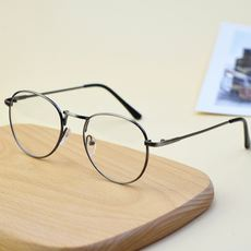 8cf055710c Korean literary round metal glasses frame Retro flat mirror tide men and  women decorative glasses can
