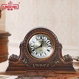 Li Sheng European large antique clock Chinese style old clock clock hourly clock clock wood clock quartz clock