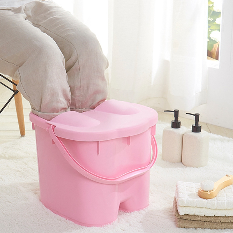 康丰加厚加高足浴桶 塑料泡脚盆脚底按摩足浴盆 洗脚桶洗脚盆脸盆