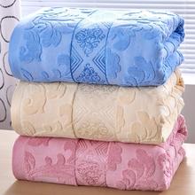 老式毛巾被毛圈纯棉单人双人薄午睡盖毯夏季凉被空调被成人毛巾毯