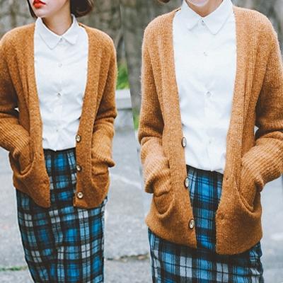 针织开衫女秋季新品毛衣薄外套秋装外套女装上衣外塔秋女款中长款
