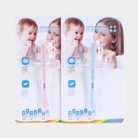 Baby deciduous teeth practice brush 0-1-2-3 years old children soft hair silicone toothbrush baby oral care training brush