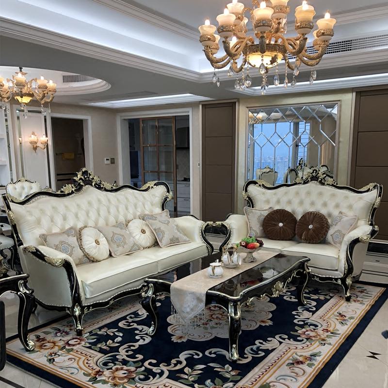 新古典美实木沙发