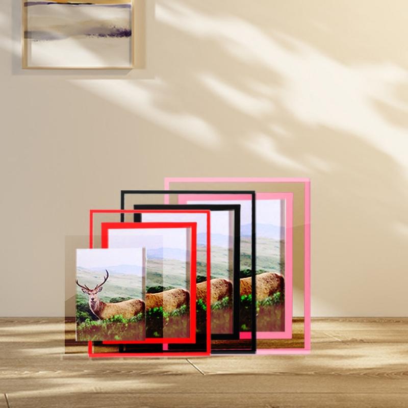 创意韩版 水晶玻璃相框 现代简约5 6 7 8 10寸摆台A4像框画框