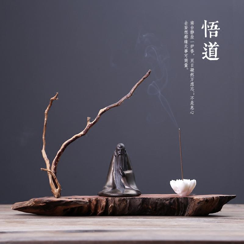 天然实木根雕创意摆件1