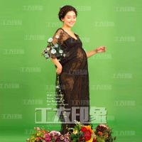 Black sexy lace pregnant women dress studio photography pregnant mommy commemorative dress interior beautiful lace dress