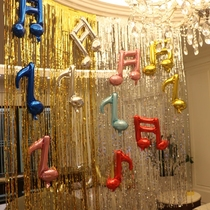 Note balloon birthday party wedding decoration layout venue decoration dress up supplies hundred days New Year party