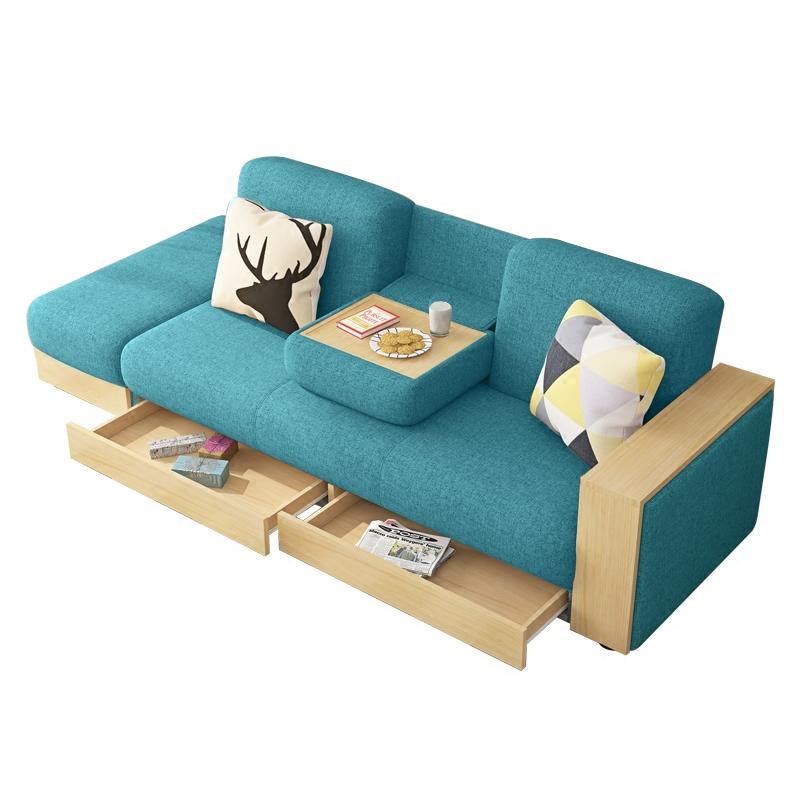 乳胶沙发可变床 多功能收纳日式北欧布艺 沙发小户型整装省空间