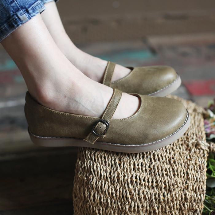 头层森女系女鞋子