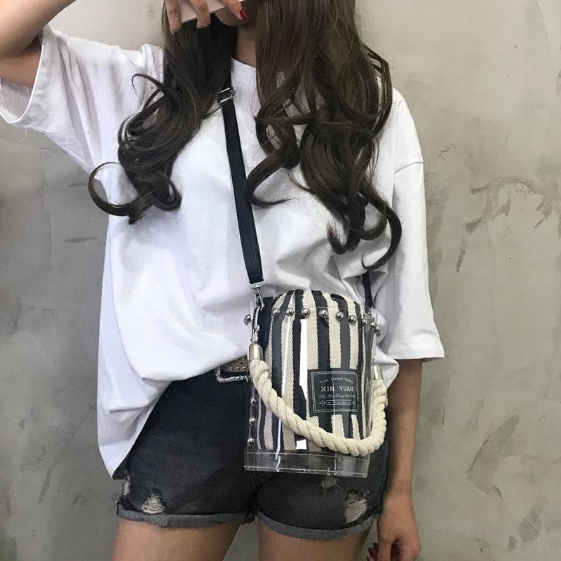 桶包包女夏斜挎包