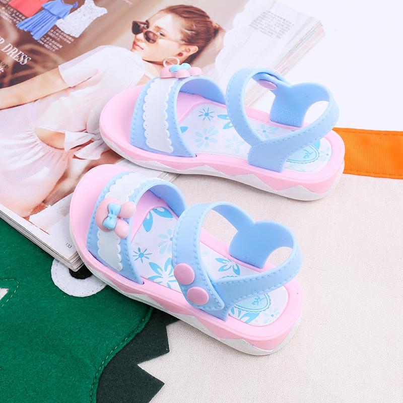 女童凉鞋2018夏季新款沙滩鞋儿童塑胶凉鞋女孩中小童鞋韩版公主鞋