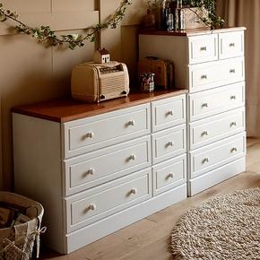 实木五斗柜抽屉式现代简约特价白色清仓客厅经济型欧式卧室储物柜