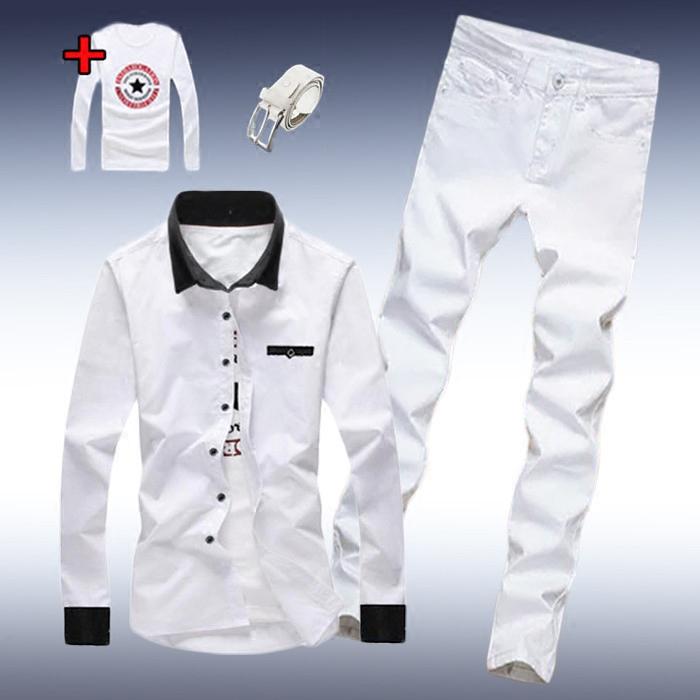 男士男装白衬衣