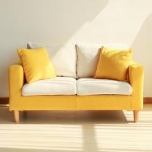 布艺沙发小户型懒人沙发日式双人二人小型休闲小沙发客厅房间拆洗