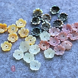 natural sea shell 10mm beautiful carving five-petal shell bowl flower DIY handmade hairpin earrings clothing accessories