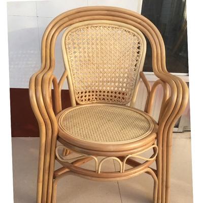 藤椅椅子单人藤椅阳台藤椅子靠背椅办公椅电脑椅家用餐圆座靠背椅