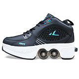 Deformed shoe skates, heelys, skating, blasting, four-wheeled pulleys, shoelaces, shoes, dual-purpose shoes