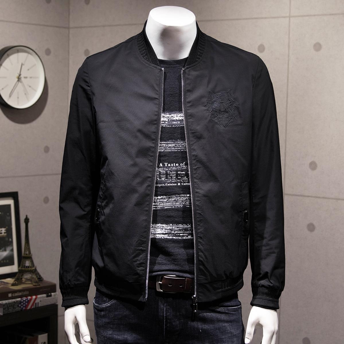 刺绣黑色男外套