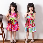 Korean children's clothing children's clothing girls dress summer big boy princess dress girl baby cotton beach skirt