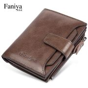 Wallet men's short leather leather large capacity vertical driving license leather case 2018 new men's leather clip card package