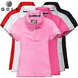 2019 spring and summer new golf short-sleeved t-shirt men's T-shirt Polo shirt golf clothes golf women's clothing