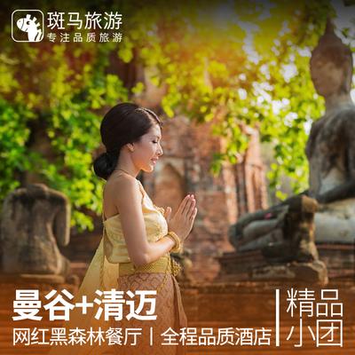 斑马旅游 泰国曼谷清迈8天7晚半自由行 安帕瓦水上市场 清莱温泉