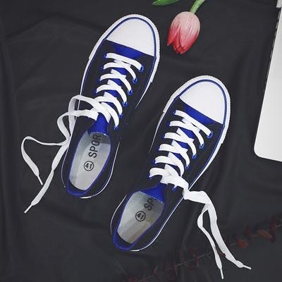 夏季情侣帆布鞋男韩版百搭休闲潮鞋学生布鞋潮流板鞋港风运动球鞋